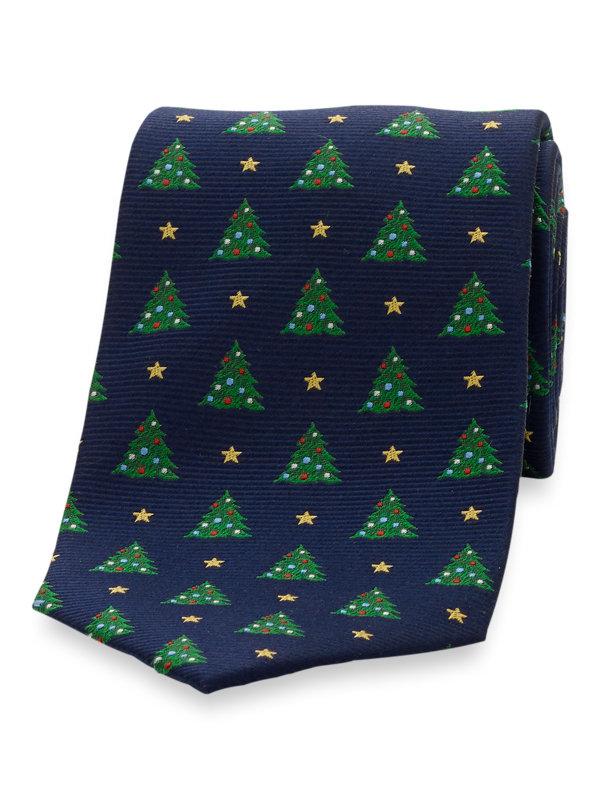 Christmas Tree Silk Tie