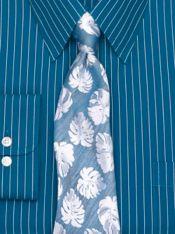 Floral Woven Wilk Tie