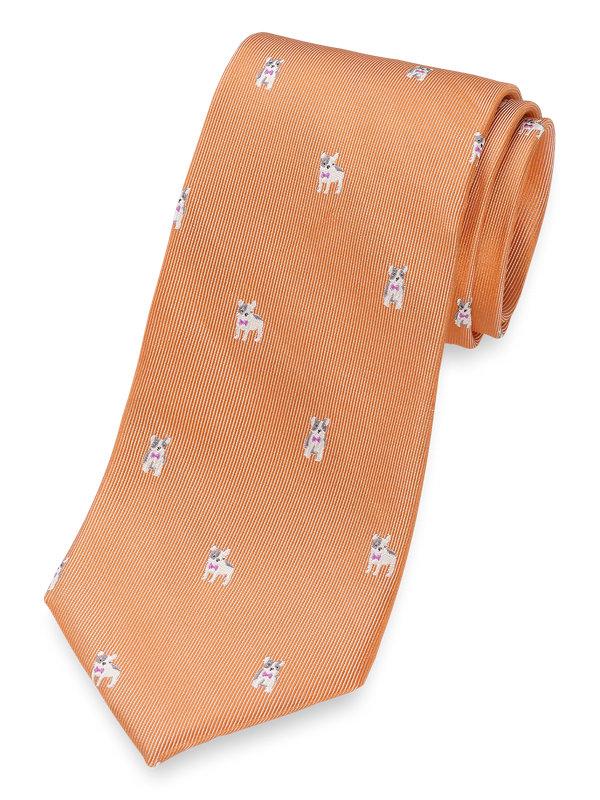 Boston Terrier Silk Tie
