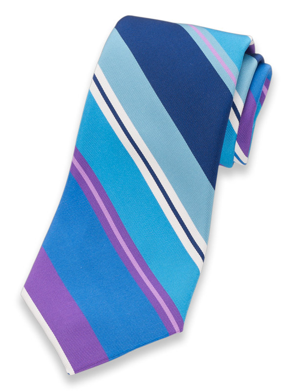 Italian Stripe Silk & Cotton Tie