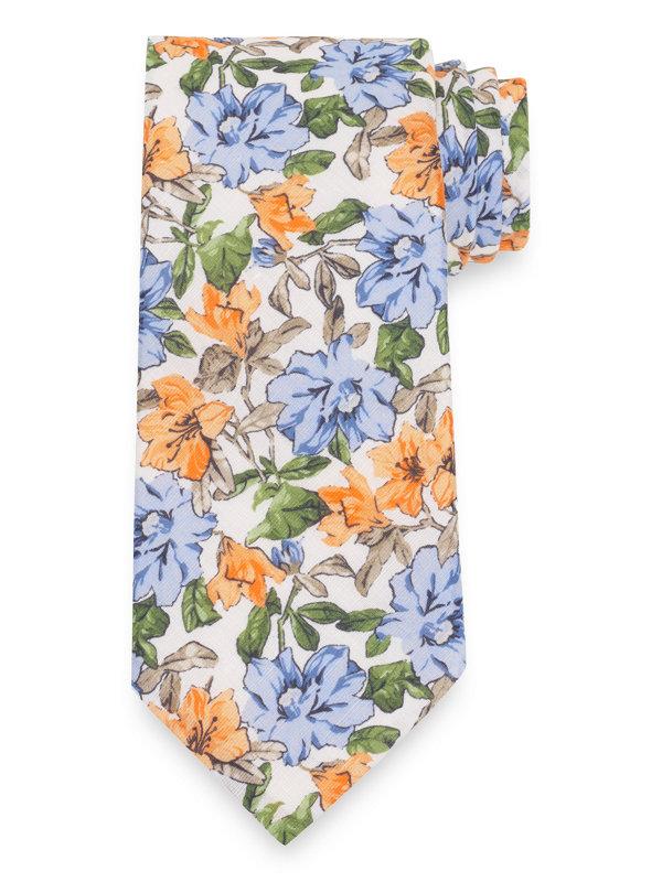 Floral Cotton & Linen Tie