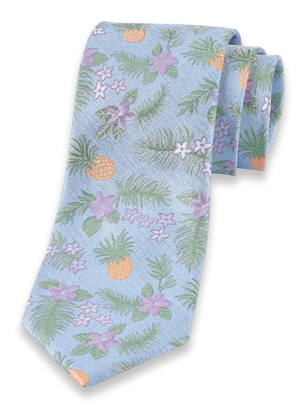 Tropical Motif Silk Tie