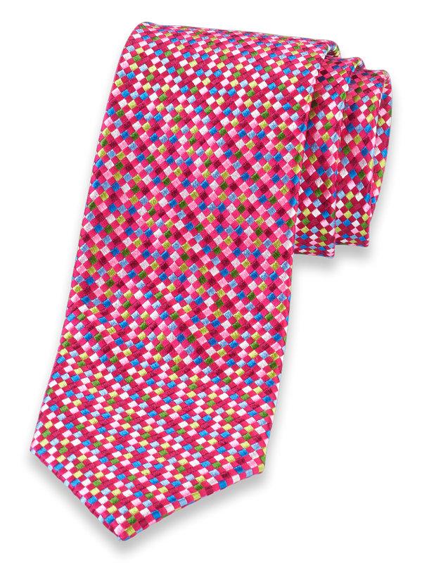 Grid Dot Silk Tie