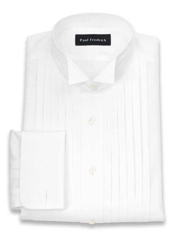 Impeccable Non-Iron Cotton Broadcloth Wing Tip Collar Formal Shirt
