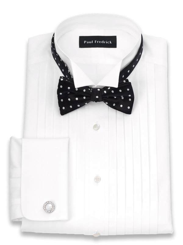 Slim Fit Impeccable Non-Iron Cotton Broadcloth Wing Tip Collar Formal Shirt