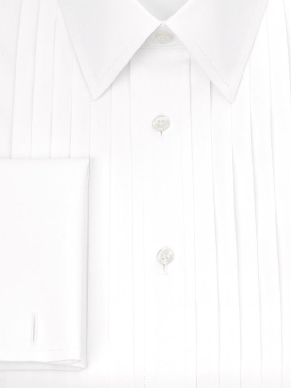Impeccable Non-Iron Cotton Broadcloth Straight Collar Formal Shirt