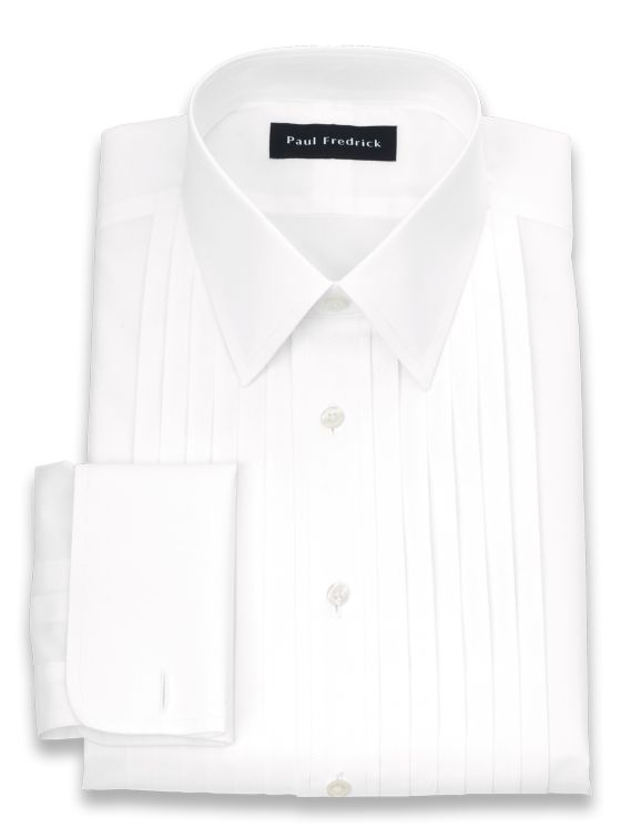 Impeccable Non-Iron Cotton Broadcloth Straight Collar Formal Shirt