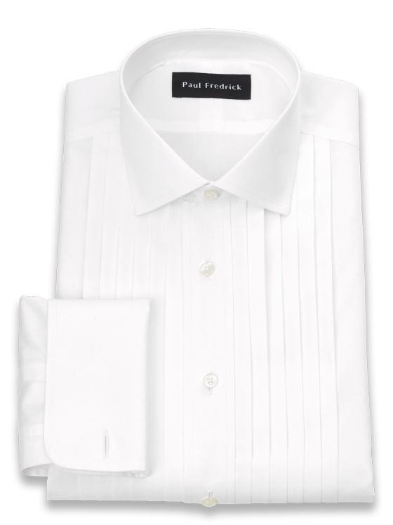 Impeccable Non-Iron Cotton Broadcloth Spread Collar Formal Shirt