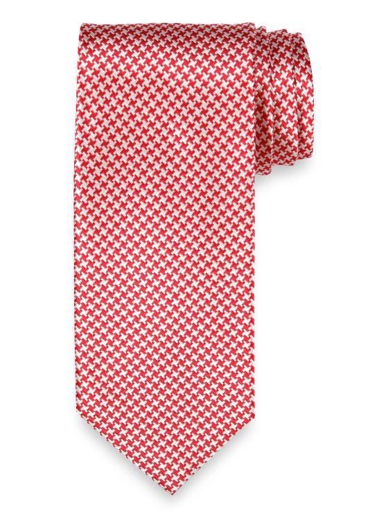 Mini Houndstooth Silk Tie