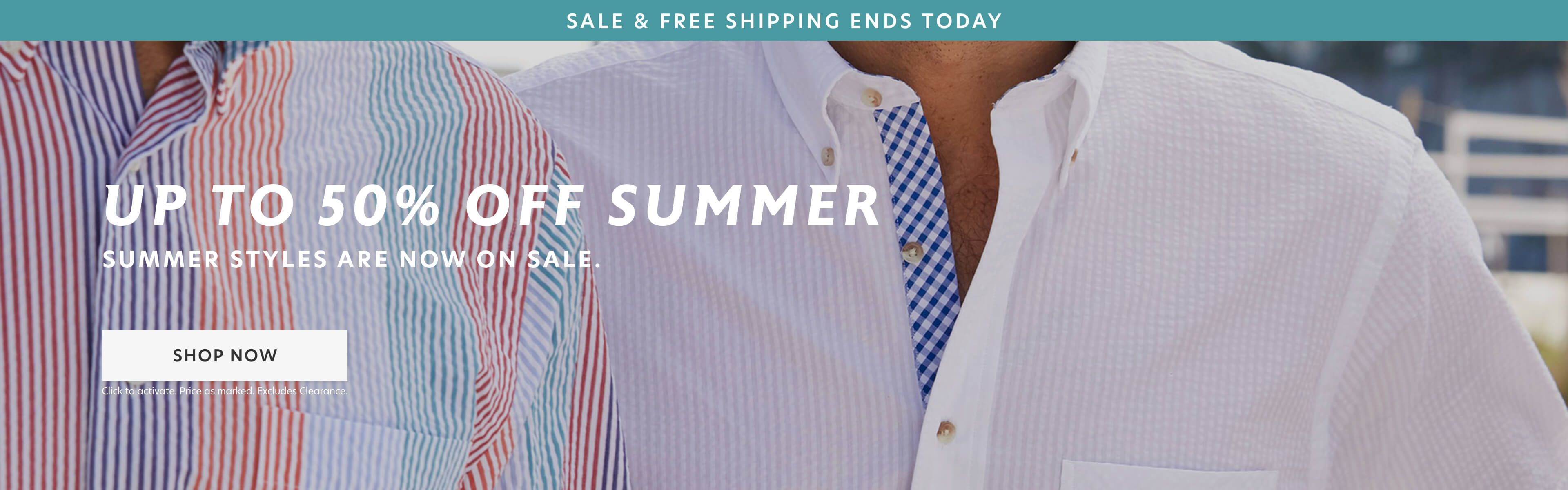 50% Off Summer & Essentials + FS