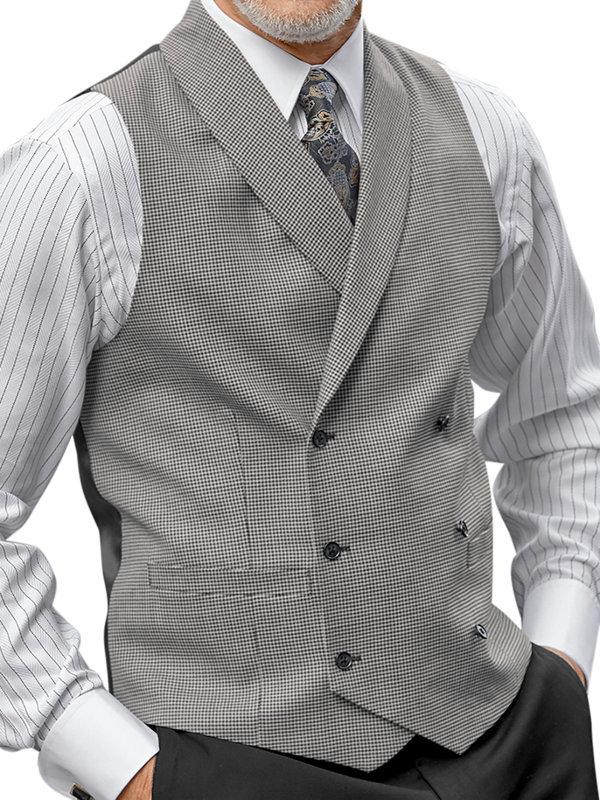 Wool Houndstooth Vest