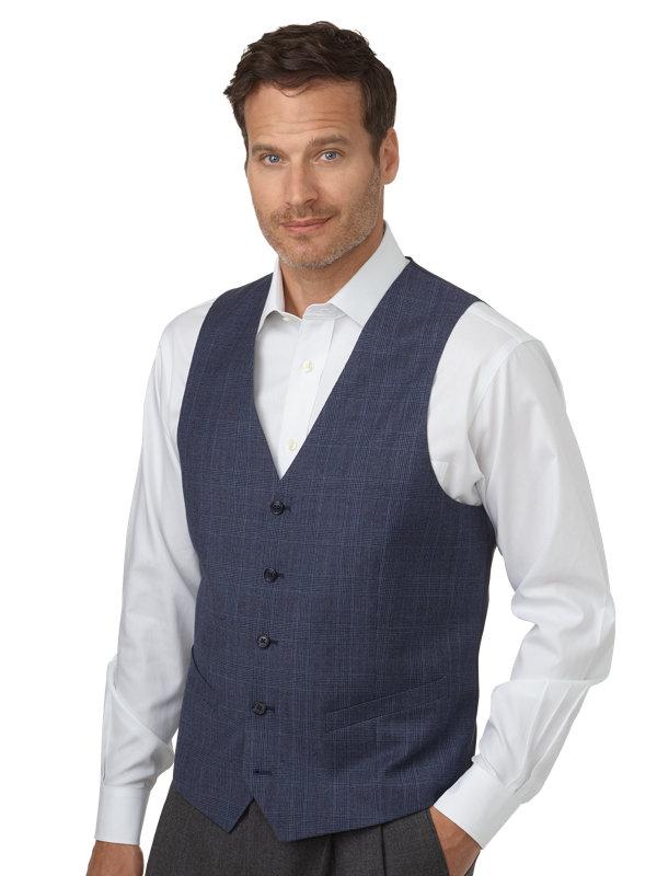 Wool Plaid Vest