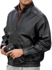 New Zealand Lambskin Leather Bomber Jacket
