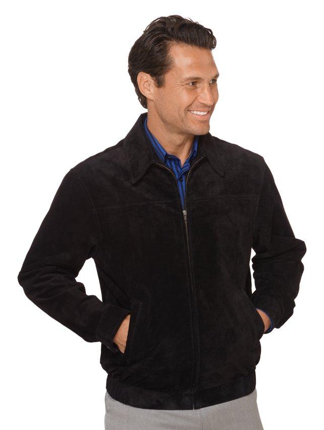 Natural Suede Bomber Jacket