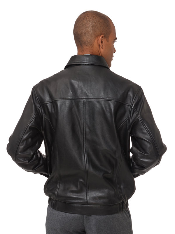 New Zealand Lambskin Leather Bomber Jacket
