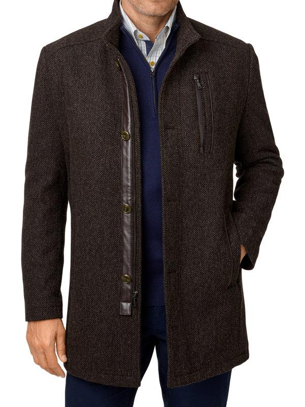 Wool Blend Tweed Car Coat