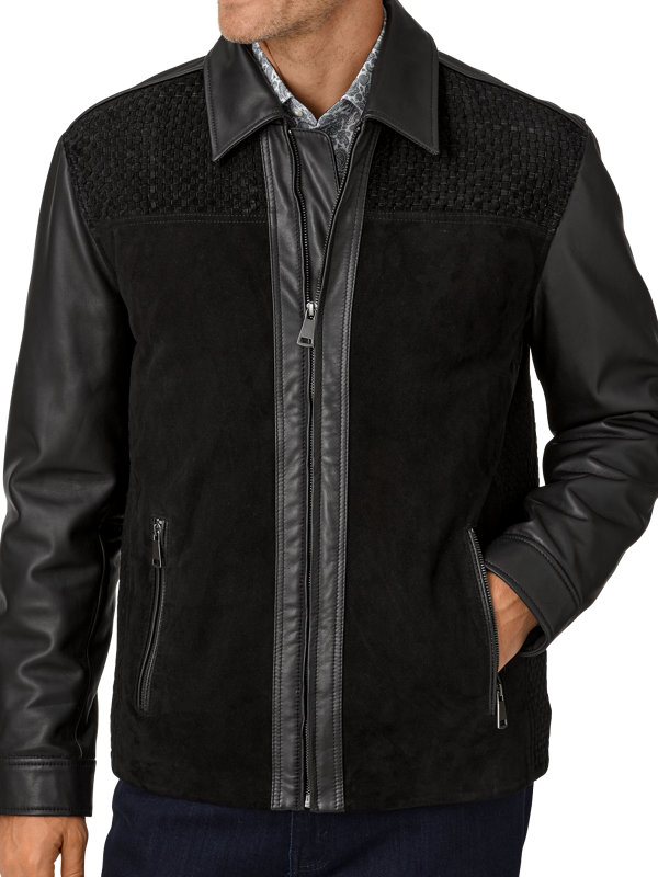 Lambskin Leather Perforated Bomber