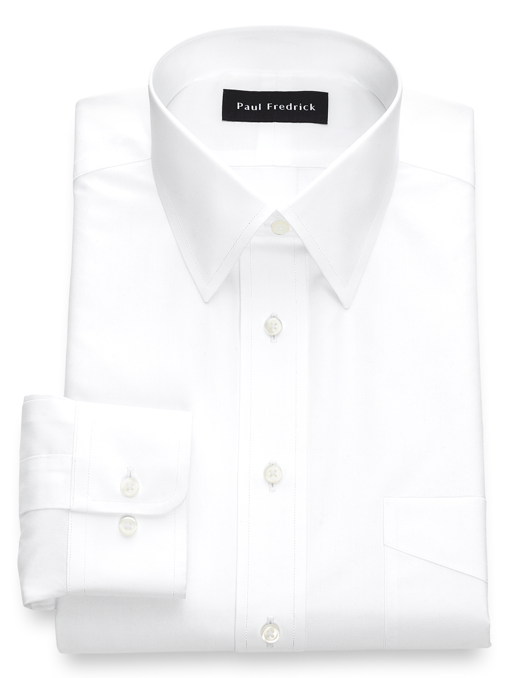 9f354919a7dd Non-Iron Cotton Broadcloth Solid Color Straight Collar Dress Shirt ...