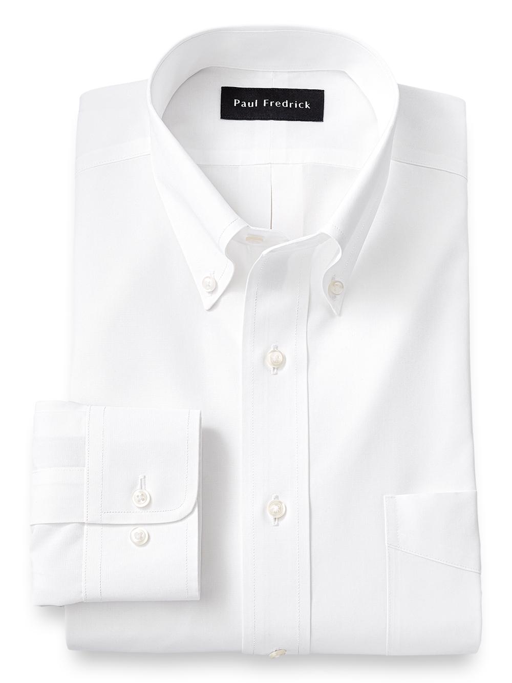 Supima Non Iron Cotton Solid Color Button Down Collar Dress Shirt