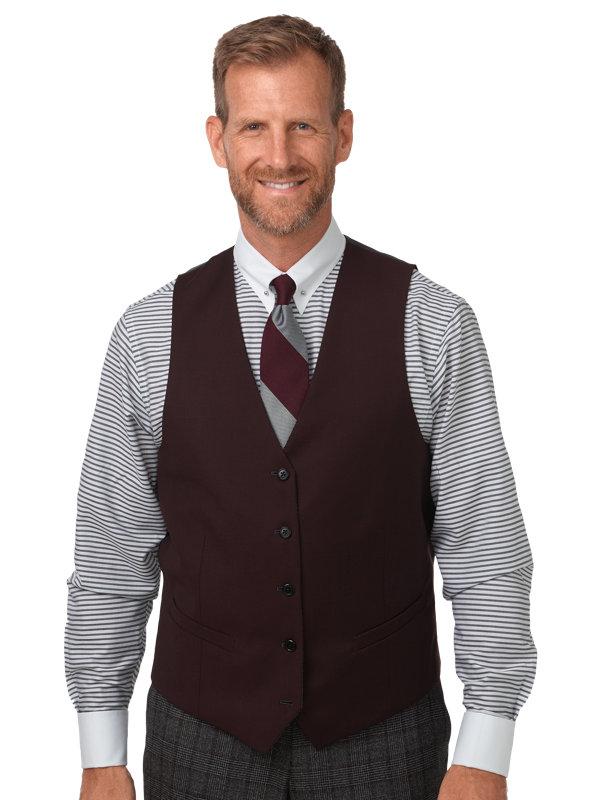 Classic Fit Wool Glen Plaid Notch Lapel Suit