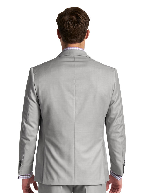 Classic Fit Sharkskin Notch Lapel Suit
