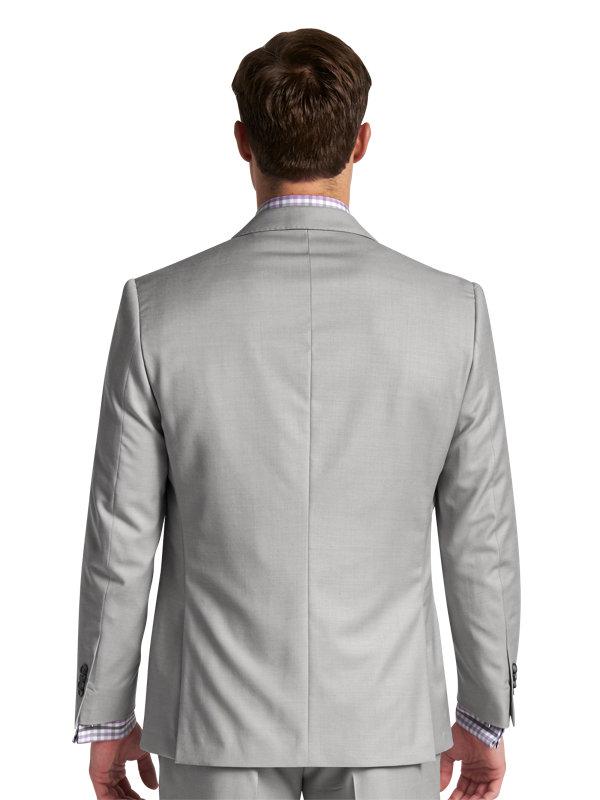 Tailored Fit Sharkskin Notch Lapel Suit