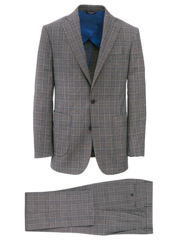 Plaid Wool Blend Notch Lapel Suit