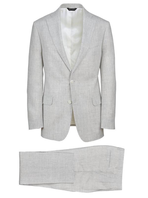Linen Plaid Notch Lapel Suit