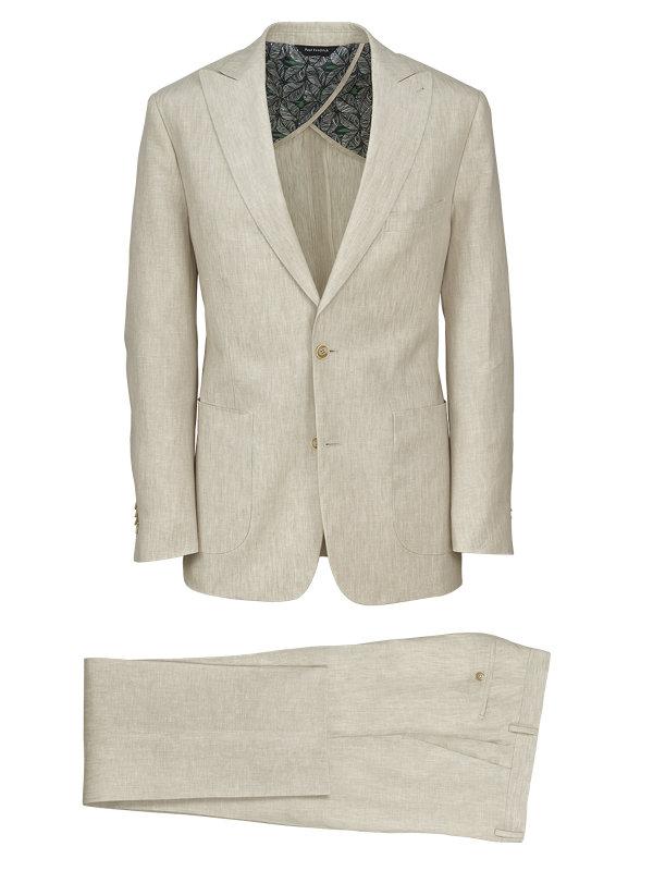 Linen Solid Peak Lapel Suit