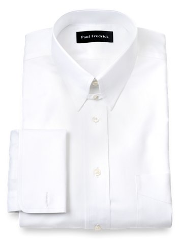 aa8c38355d8 Superfine Egyptian Cotton Solid Color Button Tab Collar French Cuff Dress  Shirt