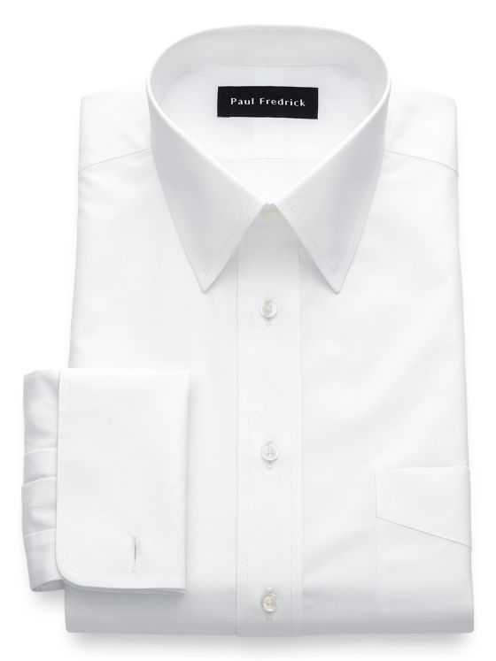 0703d6d1cb4a Alert. Close. Continue Shopping. Non-Iron Cotton Broadcloth Solid Color  Straight Collar French Cuff Dress Shirt