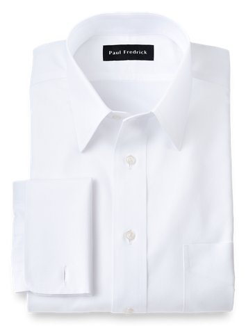 45a8b85fee2 Impeccable Non-Iron Cotton Pinpoint Straight Collar French Cuff Dress Shirt