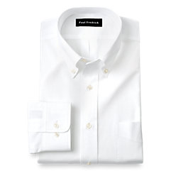 Image of Slim Fit Pure Cotton Broadcloth Solid Color Button Down Collar Dress Shirt