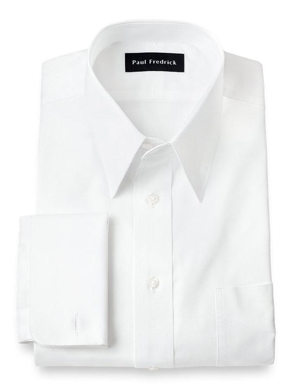 c16f819b00 Slim Fit Pure Cotton Pinpoint Edge-Stitched Straight Collar Dress Shirt