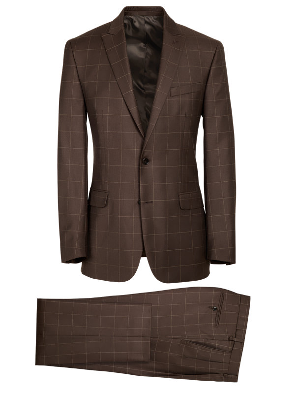 Classic Fit Essential Wool Peak Lapel Suit