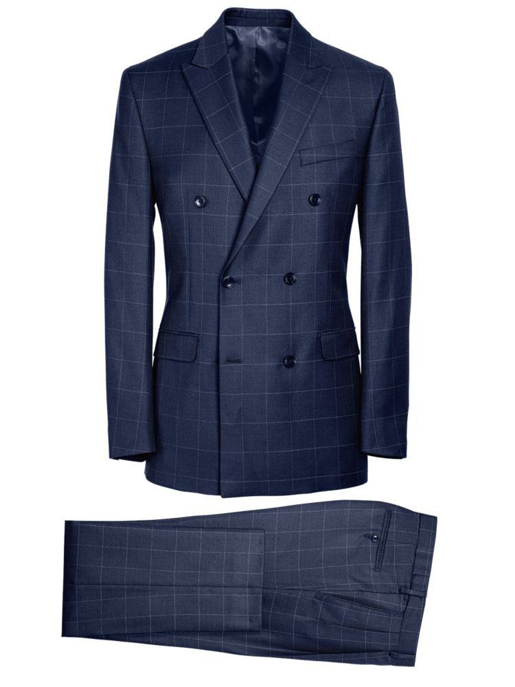 1930s Style Mens Suits Essential Wool Double Breasted Suit                    Essential Wool Double Breasted Suit $339.00 AT vintagedancer.com