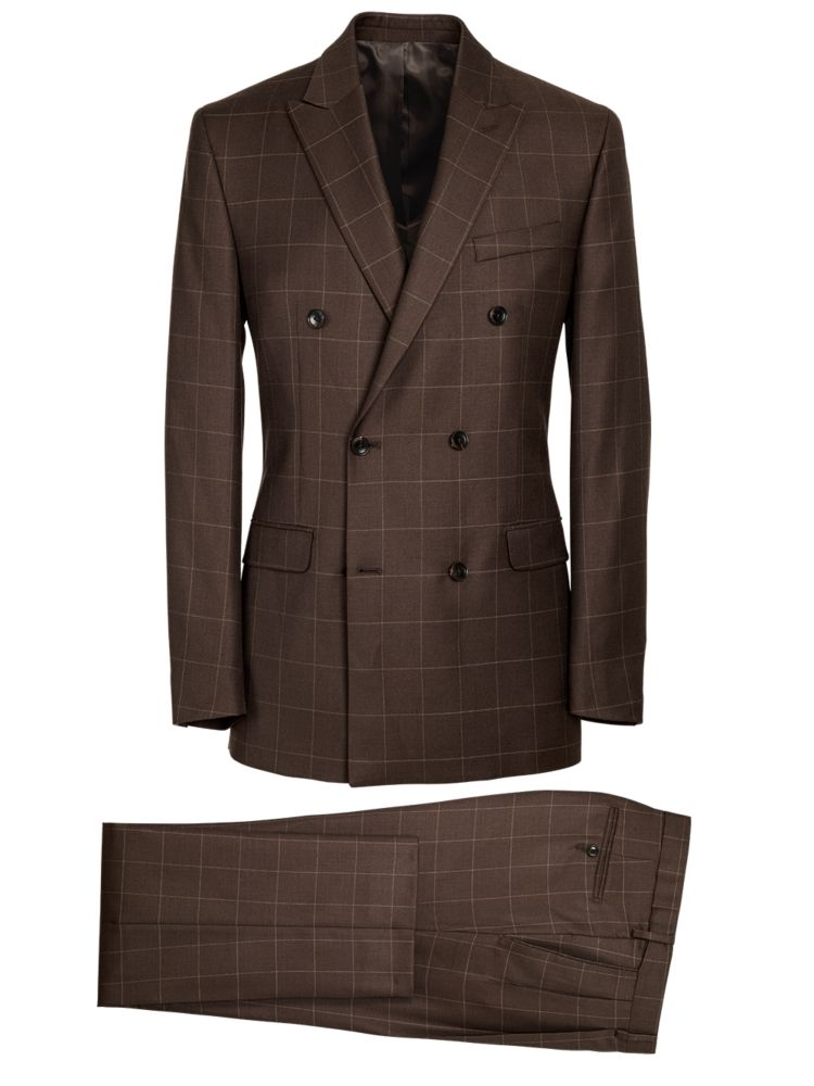 1930s Style Mens Suits Essential Wool Double Breasted Suit $219.50 AT vintagedancer.com