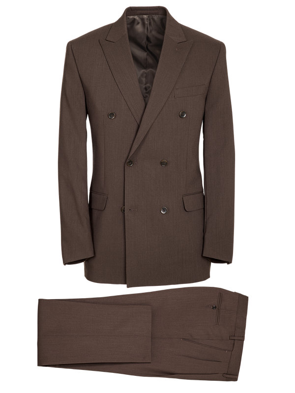 Classic Fit Essential Wool Double Breasted Suit
