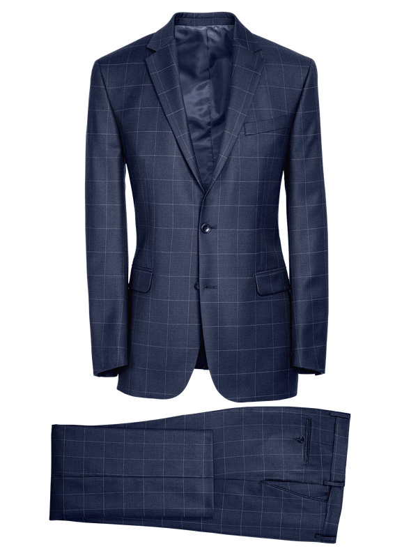 Tailored Fit Essential Wool Notch Lapel Suit