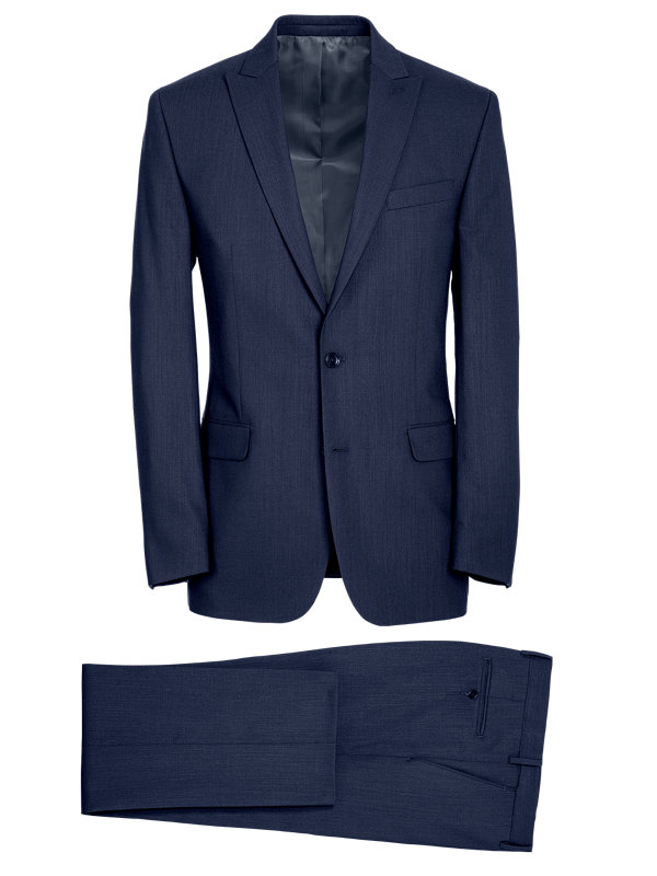 Tailored Fit Essential Wool Peak Lapel Suit