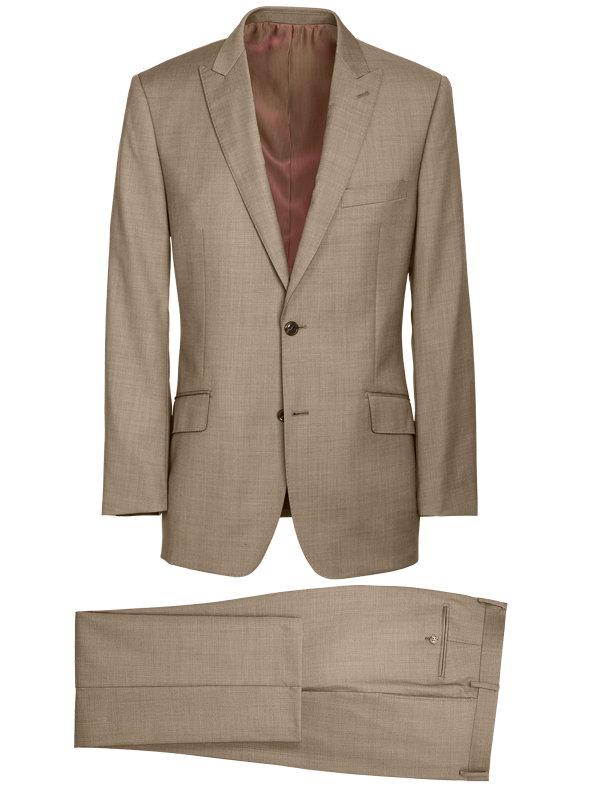 Tailored Fit Sharkskin Peak Lapel Suit
