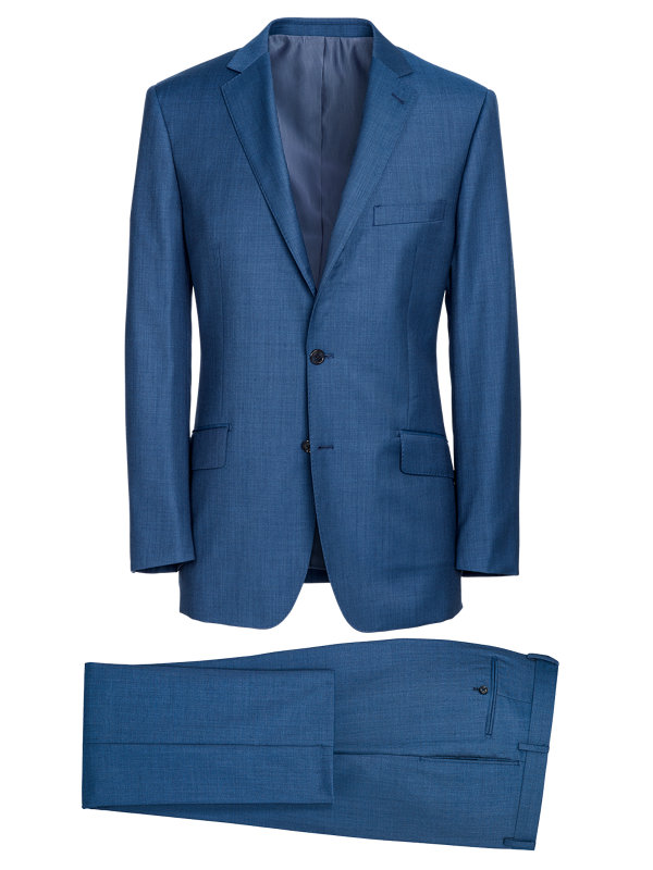 Tailored Fit Sharkskin Notch Lapel Suit