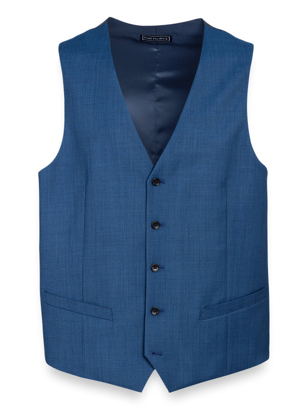 Tailored Fit Sharkskin Double Breasted Peak Lapel Suit