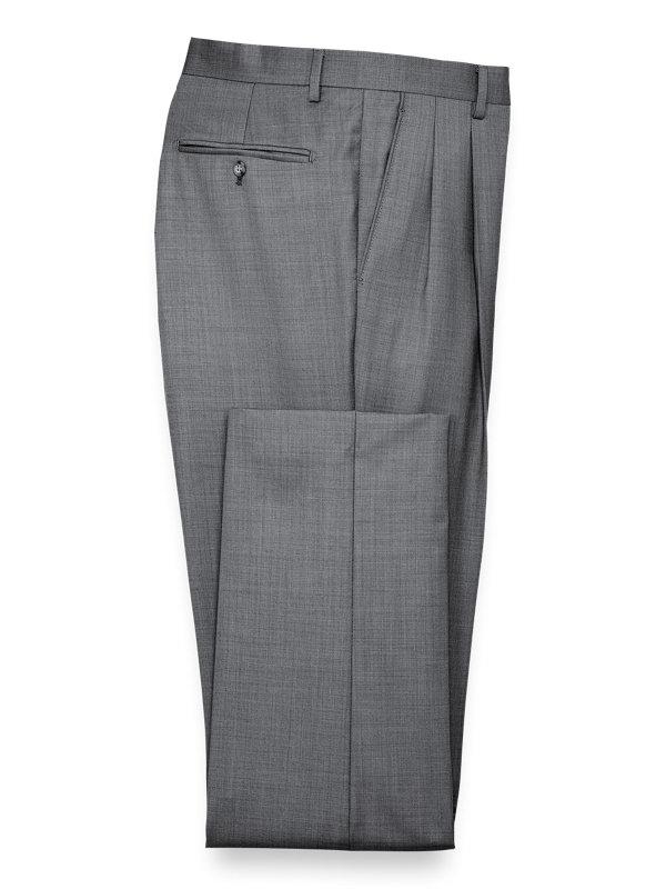 Classic Fit Sharkskin Peak Lapel Suit