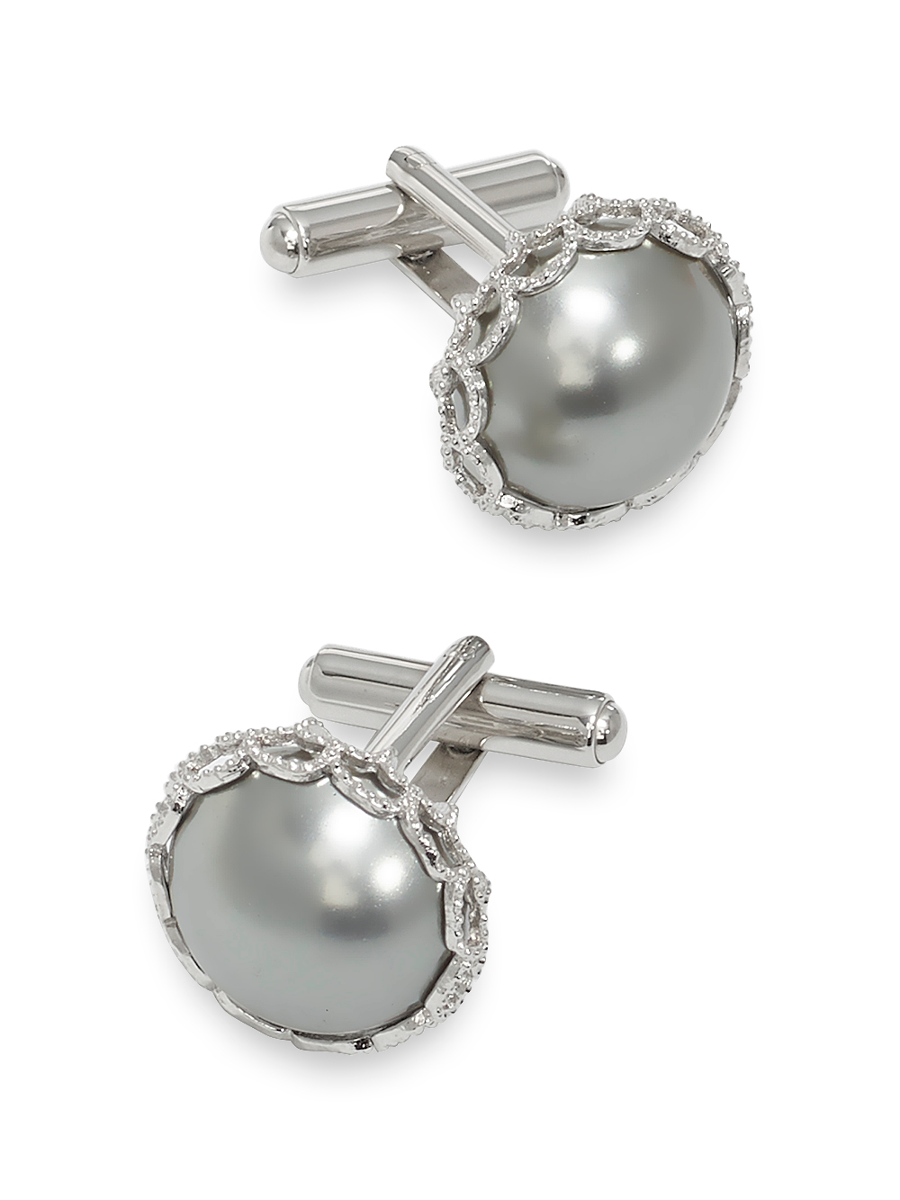 Wholesale Glass Pearl Cufflinks supplier
