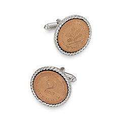 2 Pfennig German Coin Cufflinks