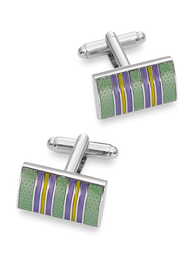 Paul Fredrick Mens Textured Enamel Square Cufflinks