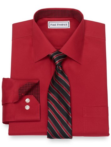 10c6dca002a Red Size 18.5-38 Clearance Dress Shirts | Paul Fredrick