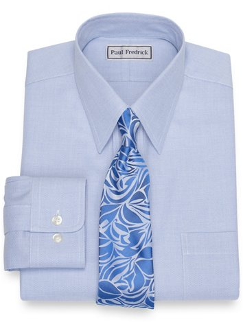 45c0323a9b73 Impeccable Non-Iron Cotton Jaspe Solid Color Dress Shirt