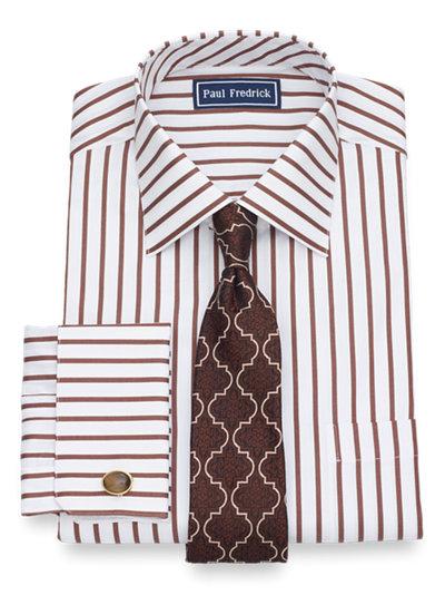 Paul Fredrick Mens Cotton Check French Cuff Dress Shirt
